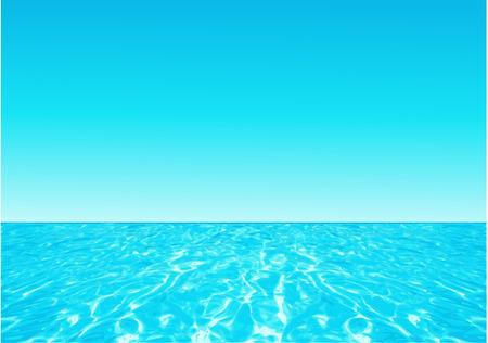 Background with ocean Vectores
