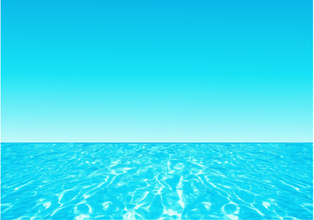 Background with ocean Illustration