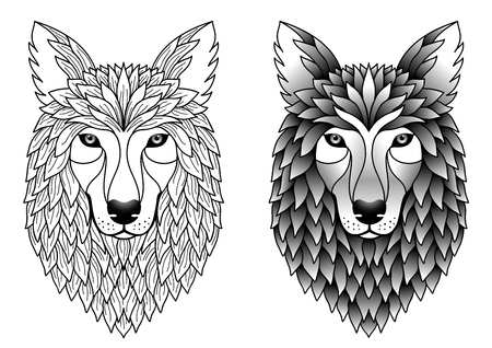 black and white wolf: wolfs