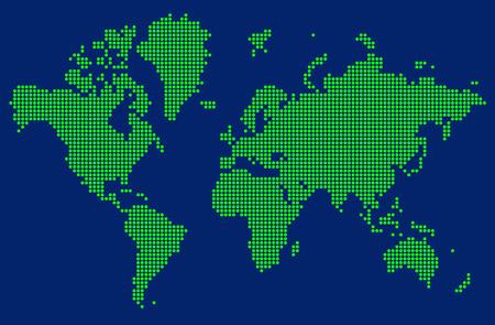 blue sea: abstract world map Illustration