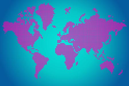 pink flower: World map of pink flower dots