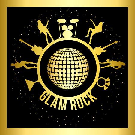 glam: glamour rockero