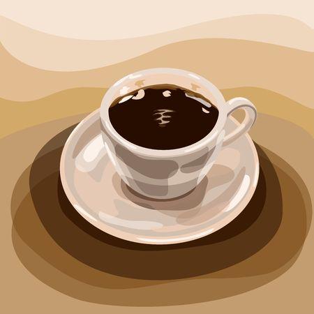 espresso: cup of espresso Illustration