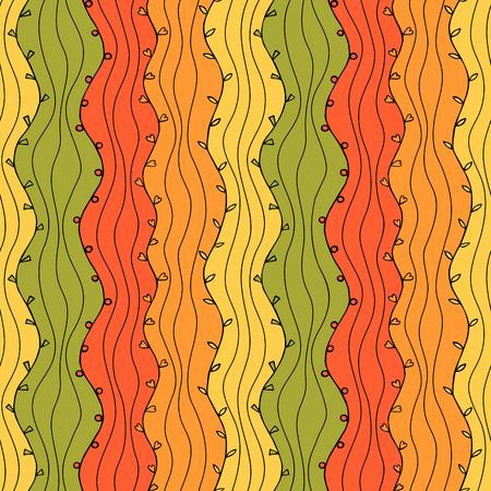 wallpaper: Seamless Abstract Hand Drawn Wave Pattern. Autumn Illustration