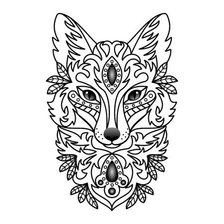 animal tattoo: Ornamental Fox
