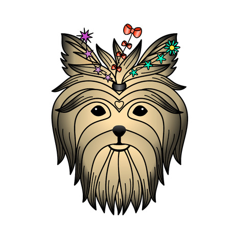 yorkshire terrier: Yorkshire terrier color tattoo