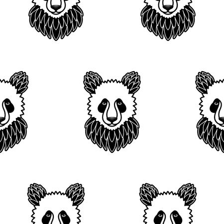 Seamless pattern con Panda Archivio Fotografico - 47862069