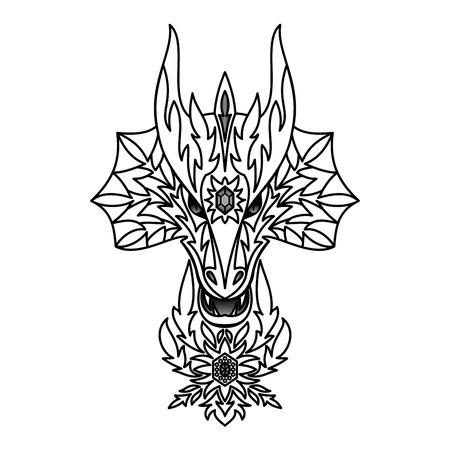 chinese new year dragon: ornamental dragon Illustration