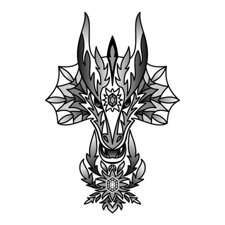 chinese new year dragon: Ornamental Black Dragon