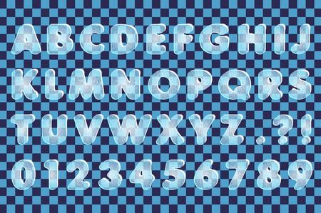 ice alphabet: ice alphabet Illustration