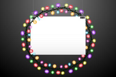 horizontal: Horizontal handing paper and lights