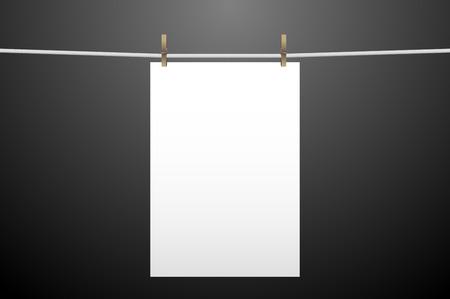 vertically: Vertically hanging paper