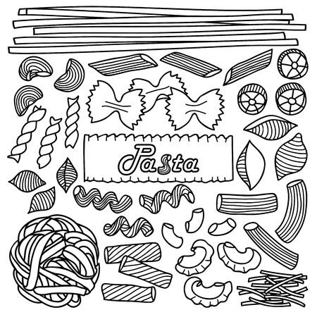 italian pasta: Different types of pasta