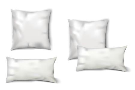 pillows: Blank White Pillows Set Illustration