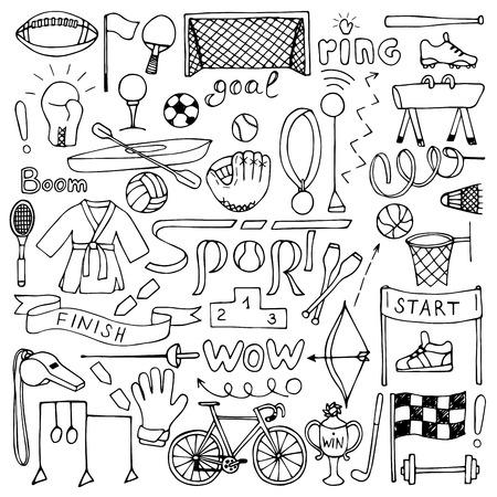 futbol soccer: Deporte mano dibujada juego de equipos