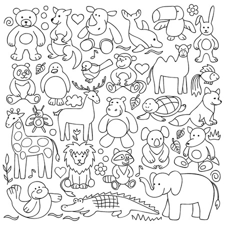 Children animal toys set