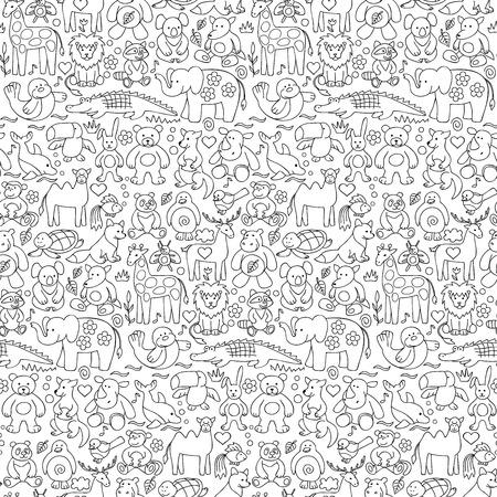 Naadloos patroon van kinderen dier speelgoed
