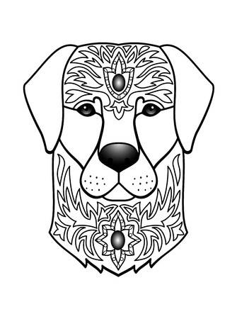 tatoo: Vector illustration of abstract animal for tattoo, textile print, chinese calendar symbol