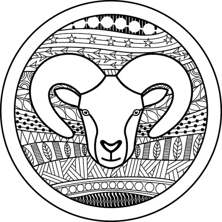 Zodiac Ram Stock Illustratie