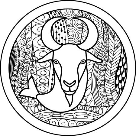 Zodiac sign Capricorn  イラスト・ベクター素材