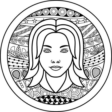zodiac sign Virgo  イラスト・ベクター素材