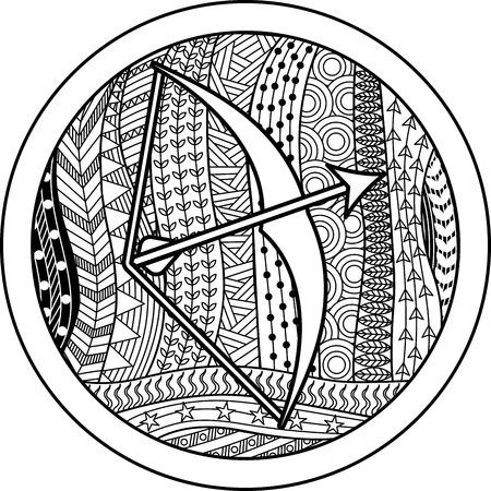 Signo zodiacal Sagitario Foto de archivo - 50368397