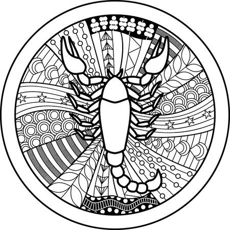 Zodiac sign Scorpio  イラスト・ベクター素材
