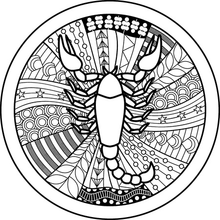 zodiac sign: Zodiac sign Scorpio Illustration