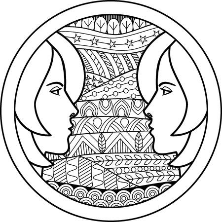 signes du zodiaque: Zodiac signe des G�meaux