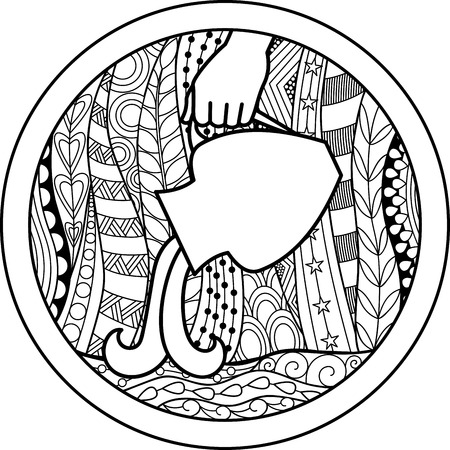 zodiac sign: Zodiac sign Aquarius Illustration