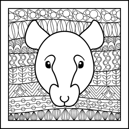 zodiacal: Vector illustration of abstract zodiacal Rat for horoscopes,  talismans, textile prints Illustration