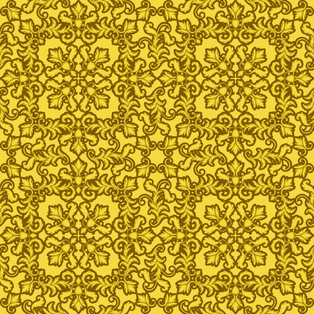 baroque wallpaper: Decorative Gold seamless pattern on gold background. Part of seamless pattern. Decorative element. Baroque Wallpaper. Tile element