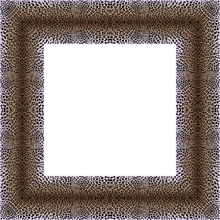 gepard: Vector illustration of frame with leopard skin. Leopard background. Panther frame pattern. Animal pattern.