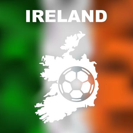 irish map: Abstract irish map on flag background. Vector illustration of abstract irish map and flag. Illustration