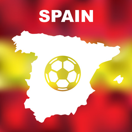 spanish flag: Abstract spanish map on flag background. Vector illustration of abstract spanish map and flag Illustration