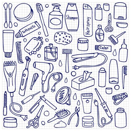 Patrón De Higiene Personal De Color Ilustraciones Vectoriales Clip