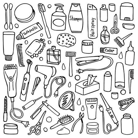 Patrón De Higiene Personal De Color Ilustraciones Vectoriales, Clip ...