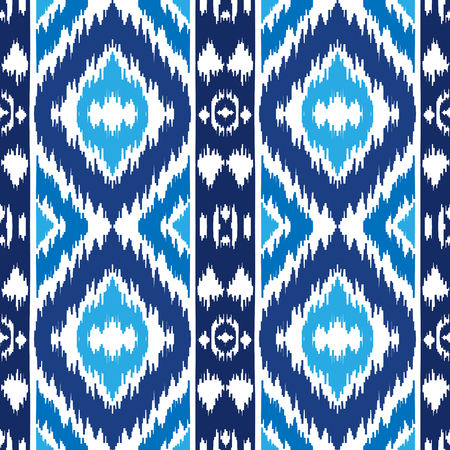 Ethnic blue seamless pattern. Boho abstract textile print. Winter wallpaper.