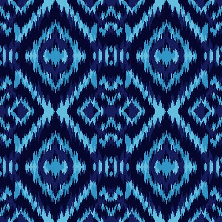 Ethnic blue seamless pattern. Boho winter textile print.