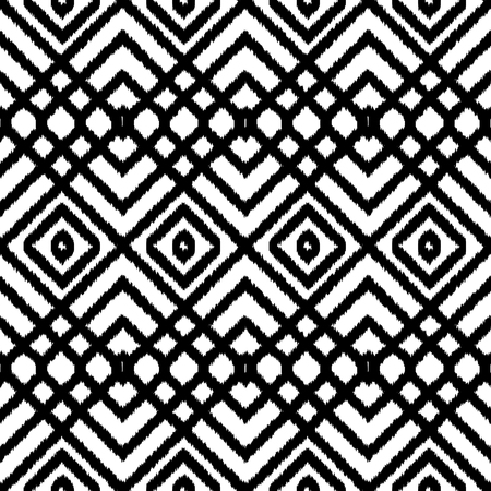 Geometric seamless black and white pattern. Square abstract textile print