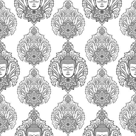 Buddah Cara De Impresión Ilustraciones Vectoriales, Clip Art ...