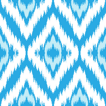 Ethnic seamless blue and white pattern. Boho winter textile print. Geometric wallpaper with abstract rhombus. Illustration