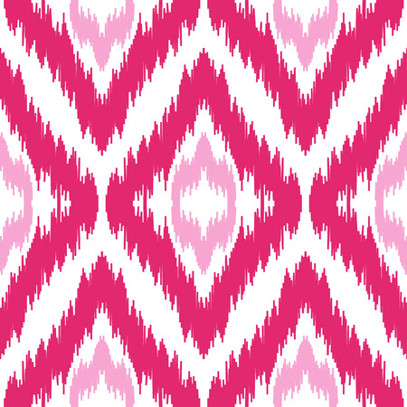 Ethnic seamless pink and white pattern. Boho winter textile print. Geometric wallpaper with abstract rhombus. Illustration