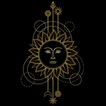 Gold Sun Modern Symbol