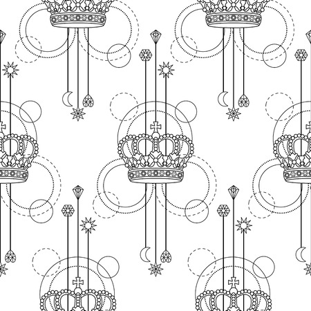 Crown Seamless Pattern Imagens