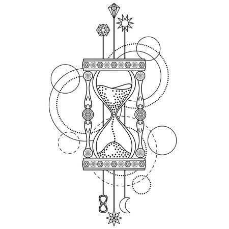 horologe: Geometric sandglass symbol