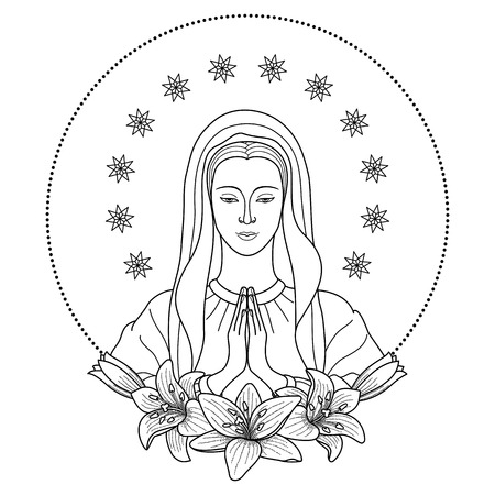 Praying Virgin Mary