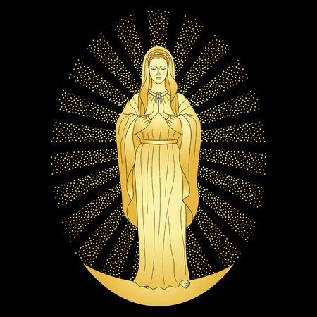 black maria: Praying Gold Virgin Mary