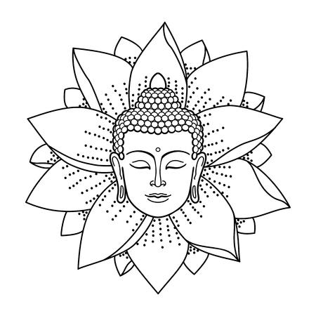 mantra: Buddha Head and Lotus