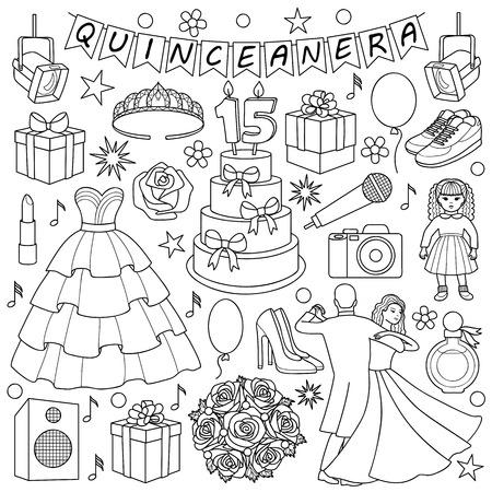 Quinceanera Doodle Set